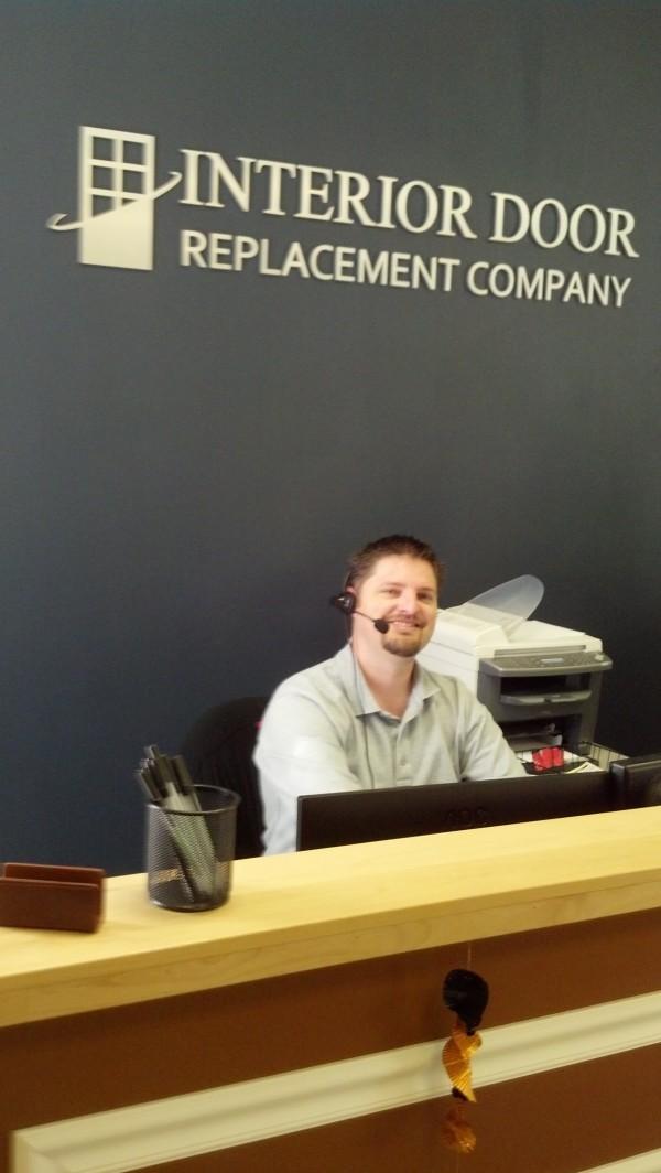 Brian in the IDRC showroom