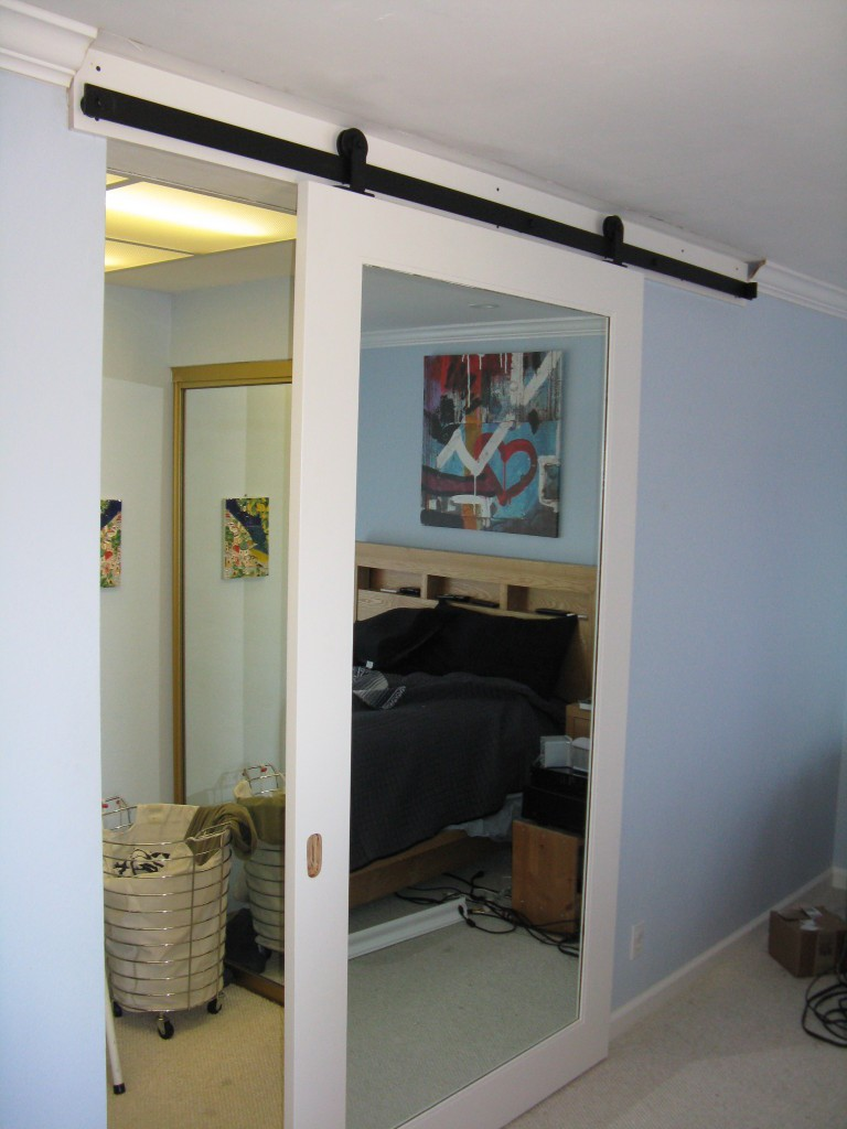 barn door in belmont. Black Bedroom Furniture Sets. Home Design Ideas