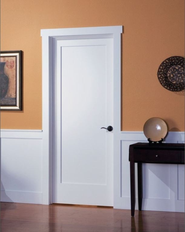 one-panel shaker interior door