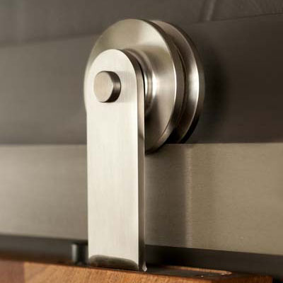 Barn door hardware carbon steel