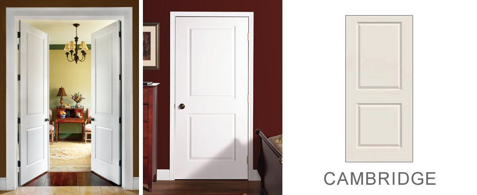 Cambridge molded interior door
