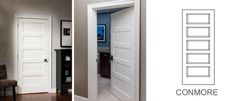 Conmore molded interior door