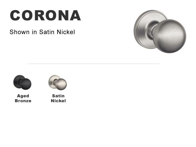 Corona Lockset for Interior Doors